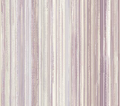 (York Wallcoverings ST6015 Paper Muse Watercolor Strie Wallpaper Pearlescent Cream, Light Purple, Medium Purple, Dark pur)