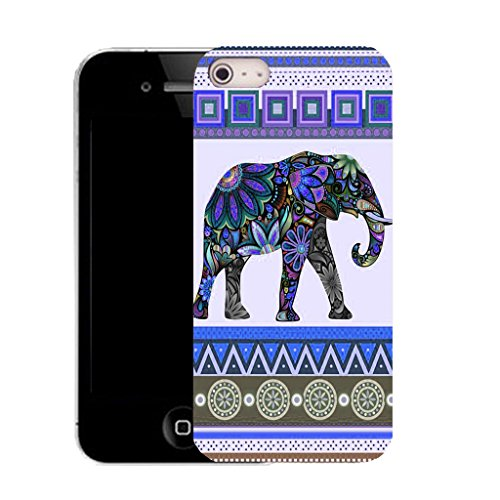 Mobile Case Mate IPhone 4s clip on Silicone Coque couverture case cover Pare-chocs + STYLET - purple elephant pattern (SILICON)