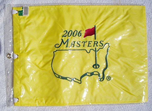 Official 2006 Masters Golf Tournament Pin Flag in Original Package Directly From Augusta National Golf Course Gift Shop Phil Mickelsons 2nd Masters Win Embroidered (Golf Tournament Packages)