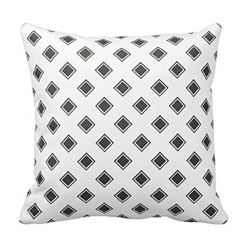 Diamond Eternal Love Band (Black Olive Diamond Design Bold Throw Pillow Case)