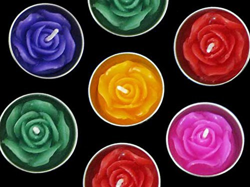 Thai Relaxed Aroma Candle Rose Flower in Tea-light with Aluminium Grommet 10 Pcs.