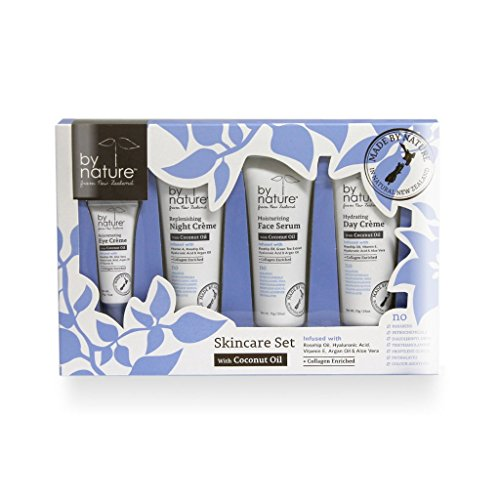 By Nature From New Zealand  Piece Skincare Set w/ Coconut Oi