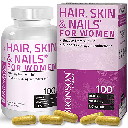 Hair, Skin & Nails with Biotin Extra Strength Vitamin Supplement for Women, 100 Capsules