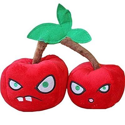 E.a@market Plants Vs Zombies Double Cherry Bombs Plush Toy Stuffed Toys: Toys & Games
