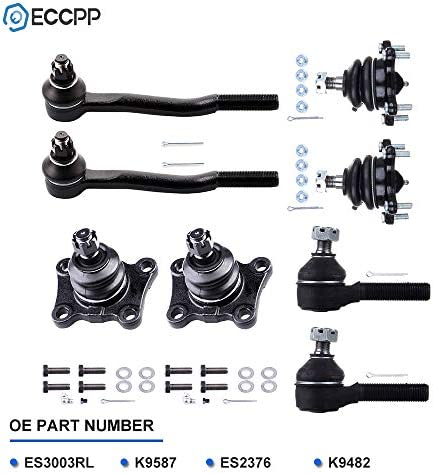 Pitman Arm Upper and Lower Ball Joints 12PC Front Steering Idler Arm 4x4 Pickup Inner and Outer Steering Tie Rod Ends w//Adjusting Sleeves for 1986-1988 Toyota 4Runner - Detroit Axle
