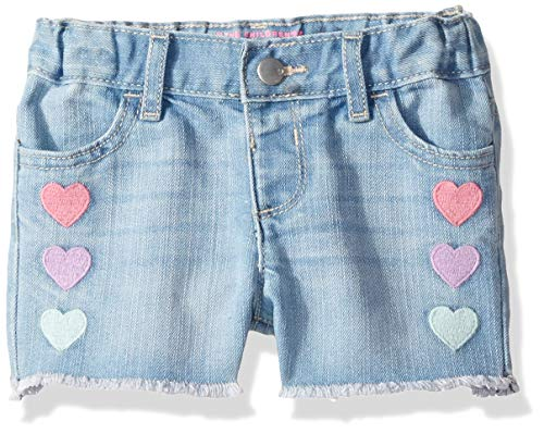 - The Children's Place Baby Girls Novelty Printed Denim Shorts, MOONLITWSH, 18-24MONTH