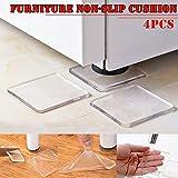 Howardee 4 Pcs Washing Machine Refrigerator Chair Cushion Shock Proof Pad Furnitures Anti Slip Pad