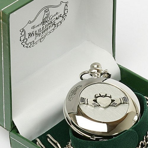 Irish Celtic Claddagh Pocket Watch by Mullingar (Celtic Design Watch)