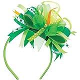 "Amscan St. Patrick's Day Ribbon Headband Costume Party Head Wear Accessory (1 Piece), Green, 7"" x 4 1/2"""