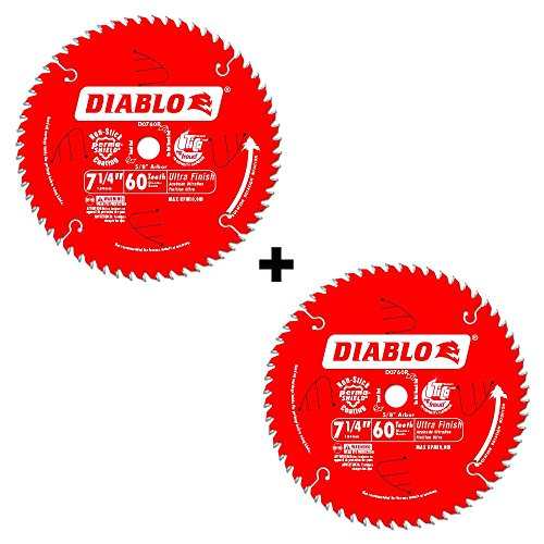 Diablo 7-1/4 in. x 60 Tooth Carbide Circular Saw Blade Pine Veneer Blades