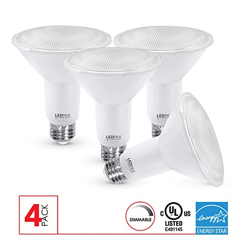 PAR30 LED Flood Light Bulbs Dimmable, 11W (75W equivalent), 3000K, 800 Lumens, (4 Pack), UL Listed, Energy Star Certified