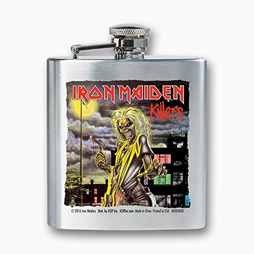 ICUP Iron Maiden - Killers Album Cover 8 oz Stainless Flask (silver)
