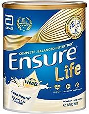 Abbott Ensure Life Complete Balanced Nutrition Milk Powder with HMB - Vanilla - 850g