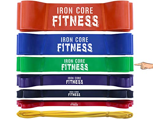 Crossfit Bands for Physical Therapy, Flexibility, Mobility, Traction, Shoulder Hip Impingement Banded Distraction, Rehab, Kipping, WOD and Pull up assistance - Long Pullup Rubber Band Green Large