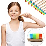LiPing Rainbow Bamboo Soft Fibre Whitening Brush for Adults & Children - Ultra Soft Medium Tip Bristles-Suitable For Travel Use- For Sensitive and Receding Gums (A)