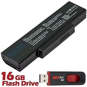 Battpit Bateria de repuesto para portátiles Asus X77Jv-TY051V - Asus (4400mah / 48wh) Con memoria USB de 16GB GRATUITA