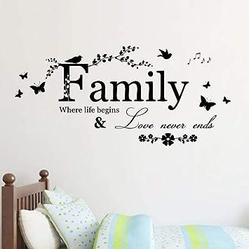Family Love Never End Quote Vinilo Tatuajes de Pared Arte de ...