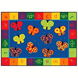 Literacy 123 ABC Butterfly Fun Kids Rug Rug Size: 3\'10\