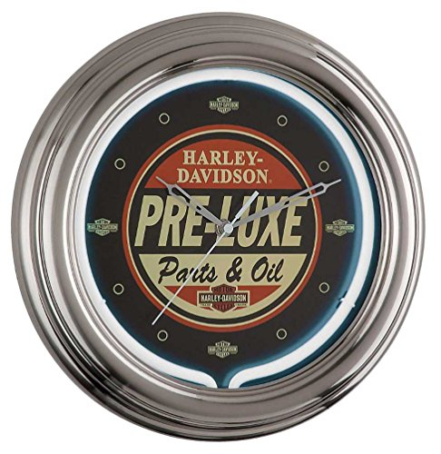 Harley Davidson PRE-LUXE Neon Retro Wall Clock