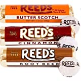 Reeds Hard Candy Rolls- 6ct- 2 Root Beer, 2 Cinnamon, & 2 Butterscotch