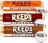 Reeds Hard Candy Rolls- 6ct- 2 Root Beer, 2 Cinnamon, 2 Butterscotch