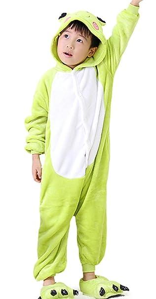 DATO Niños Ropa de Dormir Pijama Cosplay Disfraz Rana Animal Unisexo