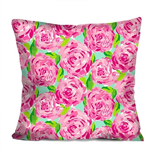 YVSXO Lilly Pulitzer Summer Decorative Throw Pillow Case Cushion 18