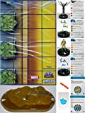 """Heroclix Marvel Guardians of the Galaxy Complete Op Kit (Includes One Each of the Following #T001 Zombies Team Base, #101 Captain Atlas, #102 Talon, #103 Recorder #211, #104 Colonel Yon-Rogg, #S101 Terrigen Crystal, #S102 Cosmic Control Rod and """"Titan"""" In"""