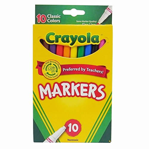 Crayola Classic Fine Line Markers,10 Count ( Case of 24 ) by Crayola