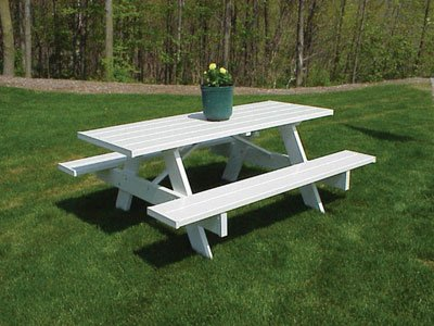Dura-Trel, Inc. PVC Picnic Table 6ft