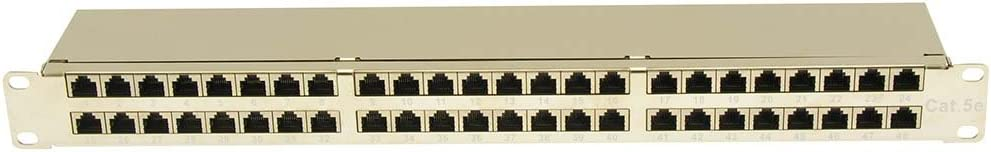 GOWOS Cat.5E 1U 48Port Shielded Patch Panel