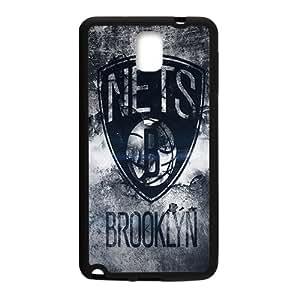 Brooklyn Nets NBA Black Phone Case for Samsung Galaxy Note3 Case