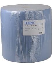 Funny AG-074 - Toallas de papel con 3 capas, 36 x 36 cm, 1000 hojas, color azul