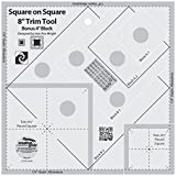 Creative Grids Square on Square 8in Trim Tool Quilt Ruler