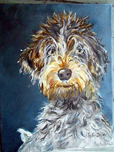 Custom Dog Portrait, Oil Painting Painted by me from your Photos by Custom Portrait Paintings