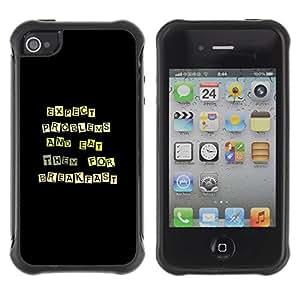Suave TPU GEL Carcasa Funda Silicona Blando Estuche Caso de protección (para) Apple Iphone 4 / 4S / CECELL Phone case / / Funny Except Problems & Eat Them /