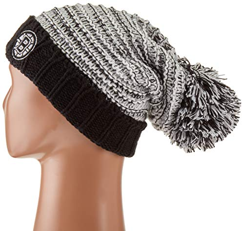 OTS NHL Boston Bruins Female Sansa Cuff Knit Cap, Black, Women's ()