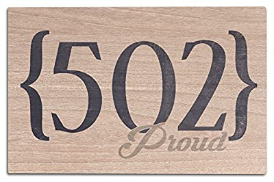 Louisville, Kentucky - 502 Area Code (Blue) (Wood Wall Sign, Wall Decor Ready to Hang)