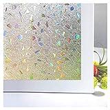 Bloss 3D Window Films Privacy Window Cling Static Decorative Film Non-Adhesive Window Stiker - 17.7 inch x 78.7 inch