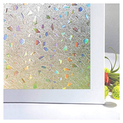 (Bloss 3D Window Films Privacy Window Cling Static Decorative Film Non-Adhesive Window Stiker - 17.7 inch x 78.7 inch)
