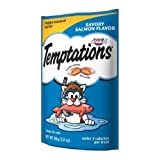Mars Whiskas Temptations Savory Salmon Flavor Treat for Cat, 3 Ounce Peg - 12 per case.