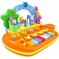 GoAppuGo Amazing Baby Piano with Dancing Animals, Lights, Sounds - Baby Birthday Gift for 1 Year boy Girl Baby or 2 3 Year Old boy Girl Kids, Educational Toys Learning Toddlers Musical Toys