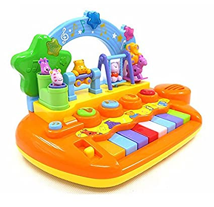 GoAppuGo Amazing Baby Piano With Dancing Animals Lights Sounds