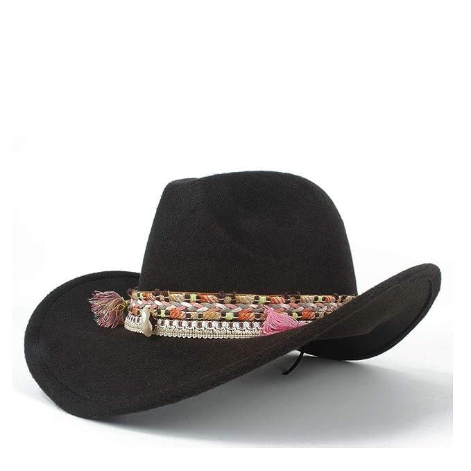 23380096b4da1 Jane Ge  Store Roll Up Winter Wide-Brimmed Cowboy Western Fashion Cowgirl  Bowler Fedora