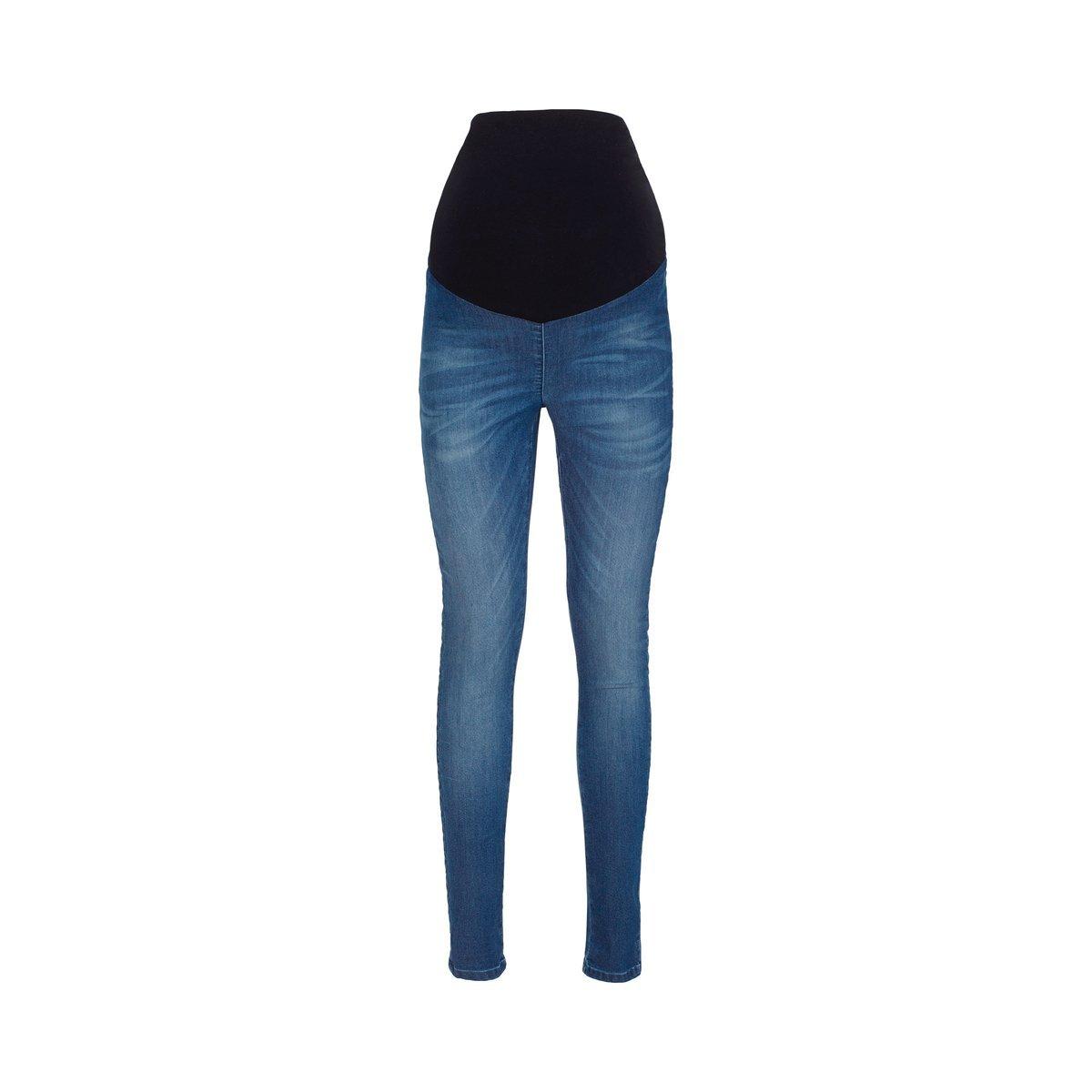 2HEARTS Umstands-Jeans Jeggings Denim blau//Umstandshose//Schwangerschaftshose//Damen Umstandsmode//Jeans f/ür werdende Mamas