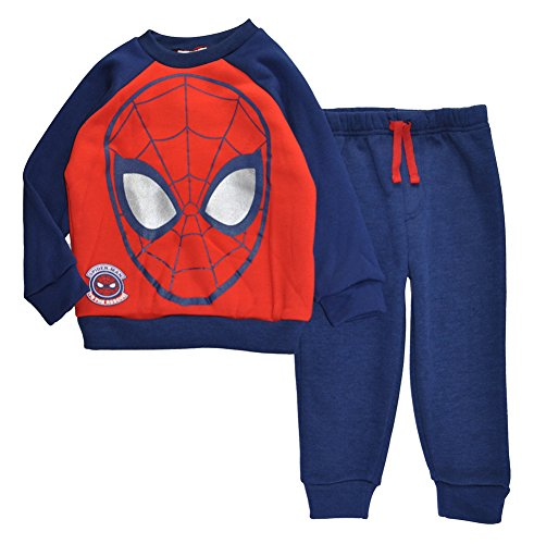 Spider-Man Little Boys Toddler Character Print Sweater & Jog Pant Set, 3T