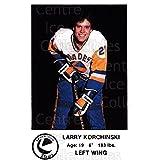 Larry Korchinski Hockey Card 1983-84 Saskatoon Blades #16 Larry Korchinski