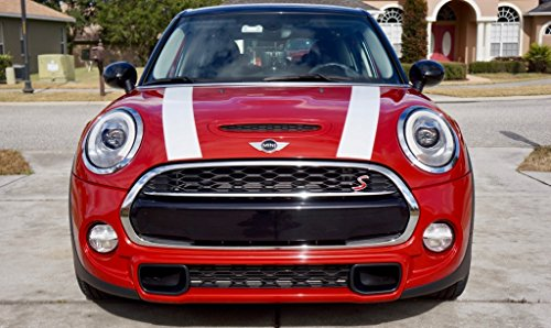 The Pixel Hut gs00147 White Hood Stripes for MINI Cooper and S Hard Top F56 (2014 - Present)
