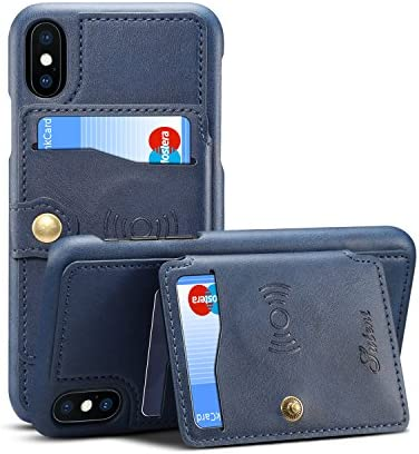 iPhone Leather Kickstand Sticking Protective