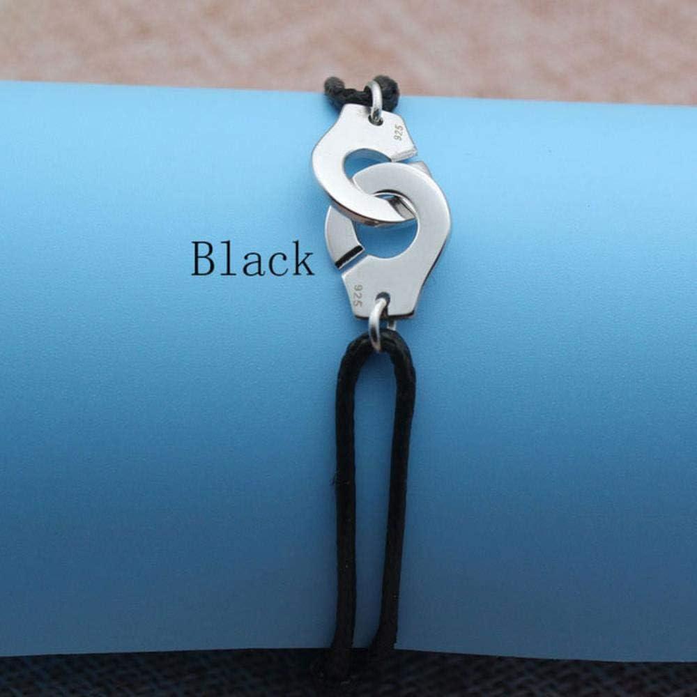 MUATE Bracelet Menottes en Argent Sterling 925 pour Bracelet de Corde WMen Bracelet en Argent Sterling 925